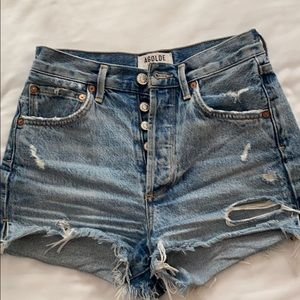 AGOLDE swap meet denim shorts